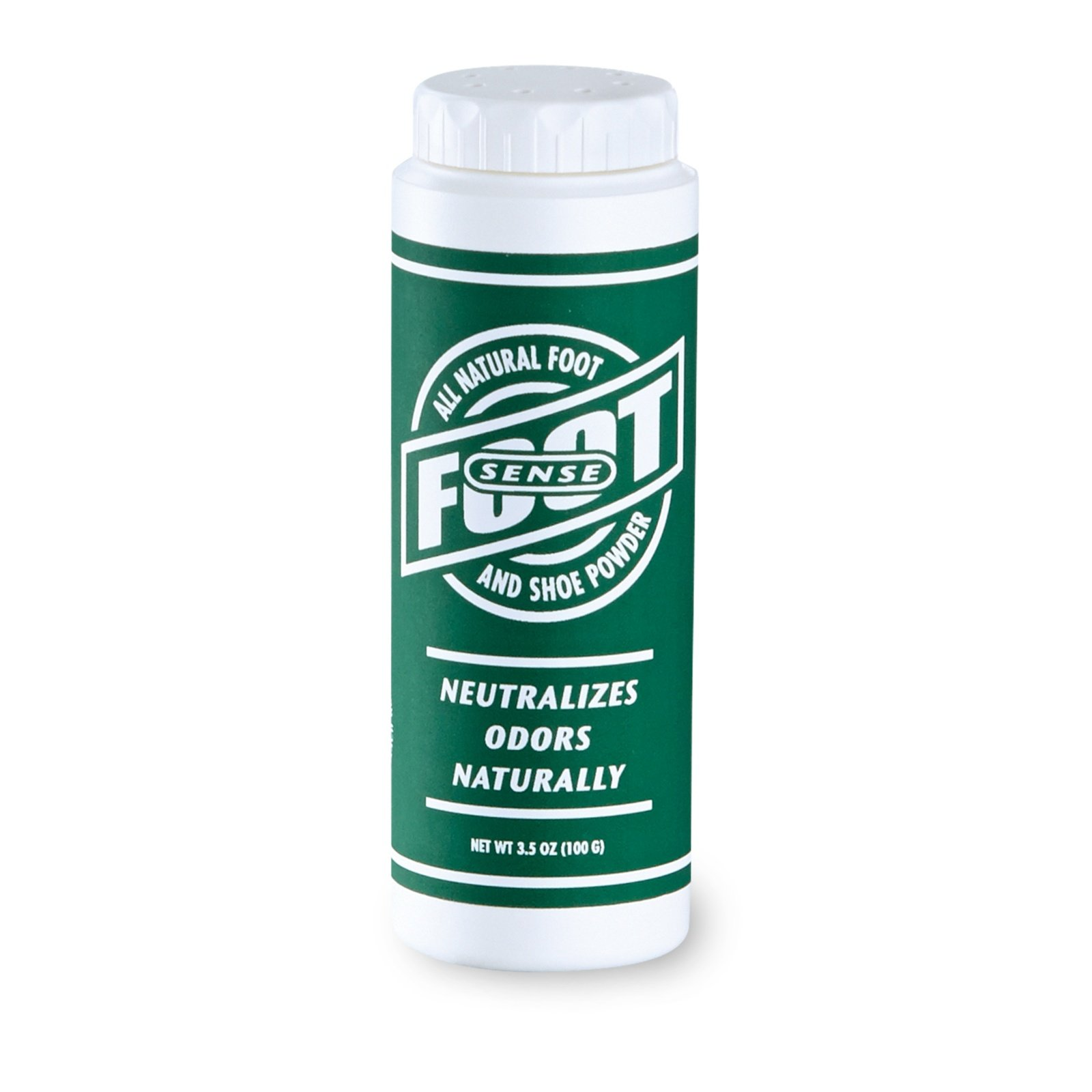 FOOT SENSE All Natural Smelly Foot & Shoe Powder - 3.5 Oz/100 Grams - Foot Odor Eliminator lasts up to 6 months. Safely kills bacteria. Natural formula for smelly shoes and stinky feet. Safe & natural. Protects disinfects and deodorizes.
