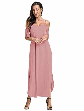 Yoins Femme Ete Chic Robes Longues Imprime Florale Longue Robe Elegante Long Dress Col V Robe De Soiree Epaules Nus Casual Femme Sou L Jp