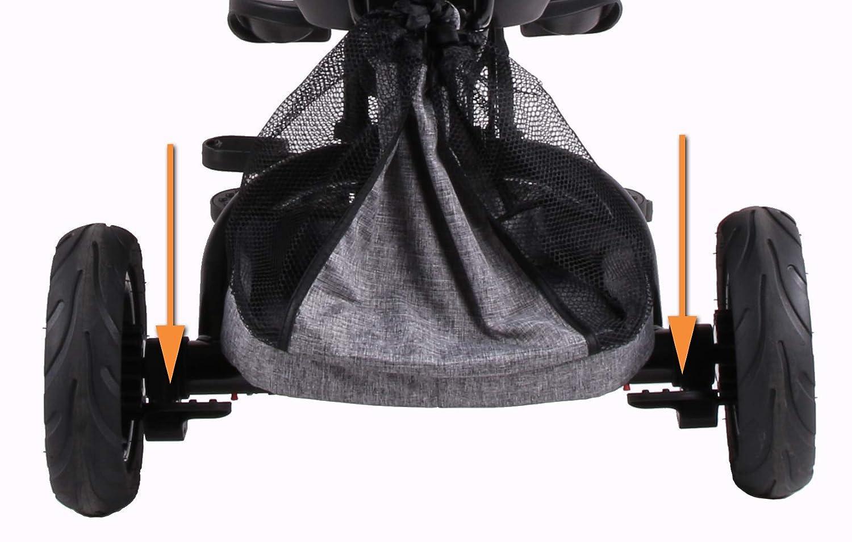 CE-en 71 Fonction de Roue Libre 25 kg Hauteur 100 cm Repose-Pieds Si/ège Pivotant 360/° Hauteur r/églable Frein arri/ère Kidz Motion Tricycle pour Enfants de 1 /à 5 Ans Cadre Pliable Gris