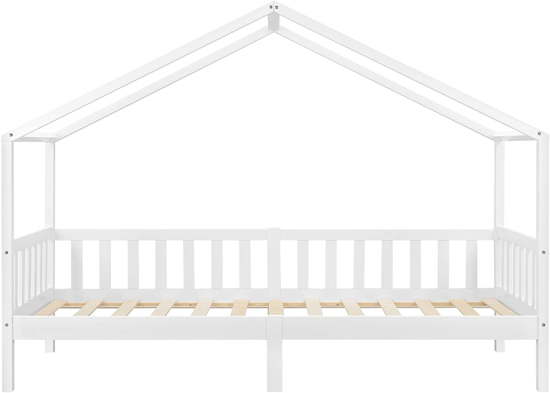 Kinderbett 90x200 cm Rausfallschutz und Stauraum Bettenhaus Kiefernholz Natur