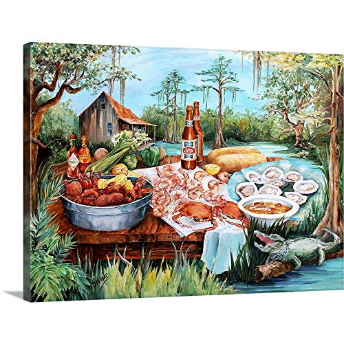 (Cajun Cooking Canvas Wall Art Print, 16