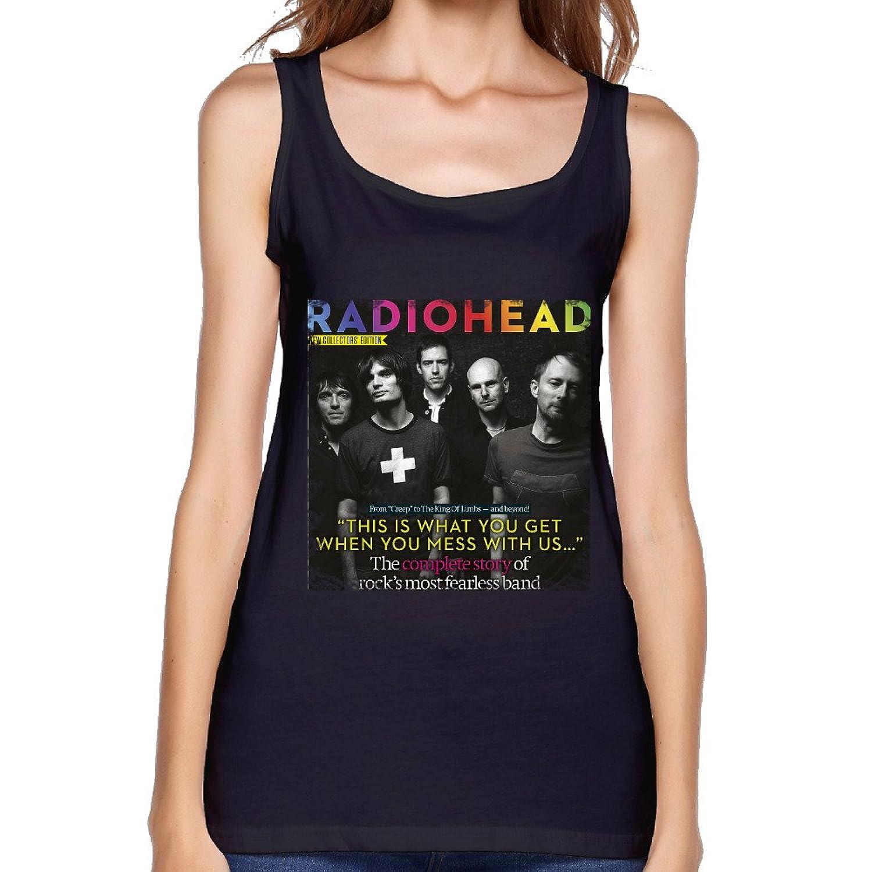 TECC Radiohead Cover Womens Fashion Tank Top Black