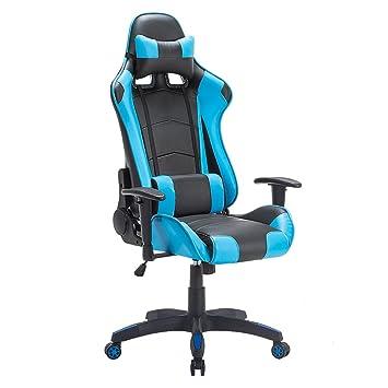 Schreibtisch hocker ergonomisch  IMWH Racing Hochwertiger Bürostuhl Gaming Stuhl,Ergonomischer ...