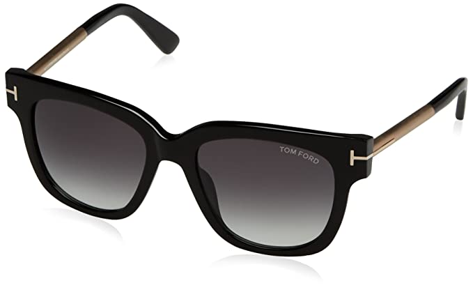 f72b1f67764a Tom Ford Women s Tracy TF436 TF 436 01B Black Beige Fashion Sunglasses 53mm