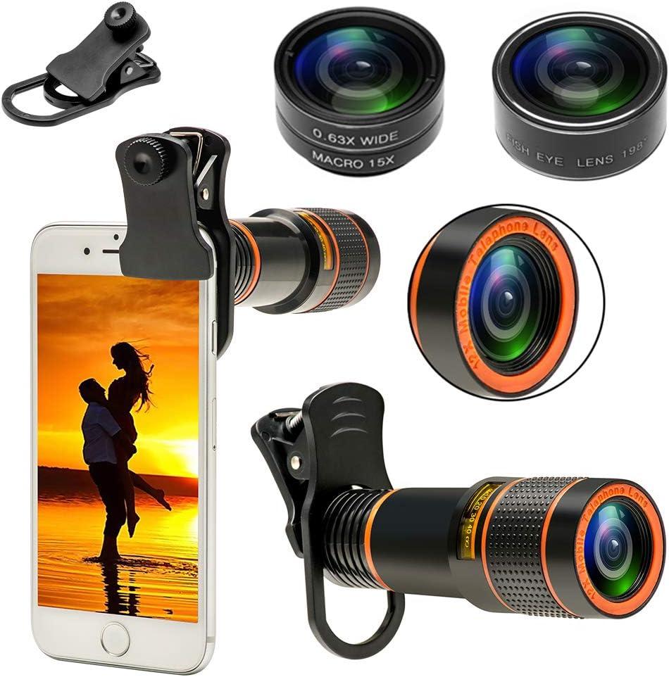 Kit de lentes para celular 4 en 1 iphone Samsung con Android