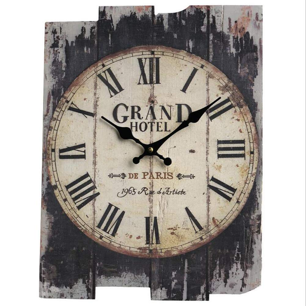 Amazon.com: FUSHENG Reloj De Pared, Reloj De Pared Del País, Reloj De Pared Silencioso, Reloj De Pared De Madera, Reloj De Pared Decorativo: Home & Kitchen
