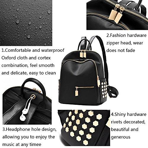 Anne - Bolso mochila  de Material Sintético para mujer Negro azul negro
