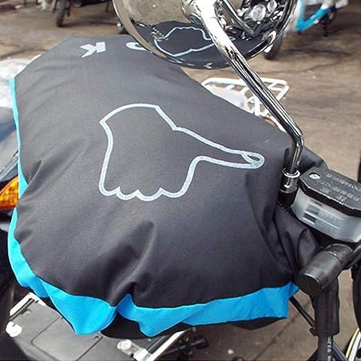 XGZ Guantes Moto Guantes Manillar T/érmicos para Motocross y Bicicletas Manoplas Impermeables de Invierno Guantes con Funda de Calentador