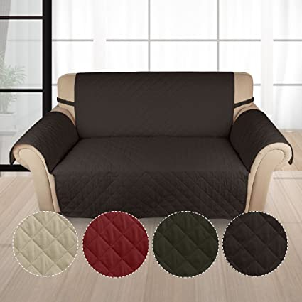 Auralum Funda Sofá 2 Plaza Cubre de Sillón Protector para Sofás Muebles Acolchado Anti-ensucia para Mascotas (Color Chocolate)