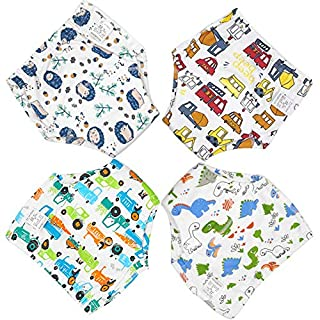 Zumou Toddler Training Pants Cotton Potty Training Underwear for Baby Boys Girls 4 Pack (Car, 12M-2T)