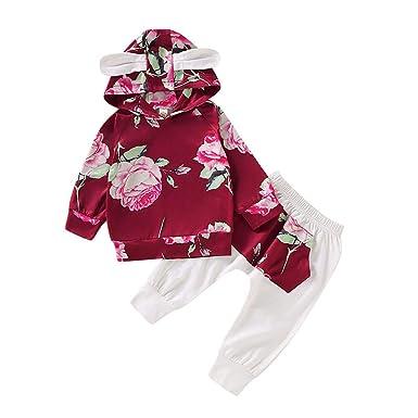 K-Youth Chandal Bebe Niña Navidad Floral Sudadera con Capucha ...