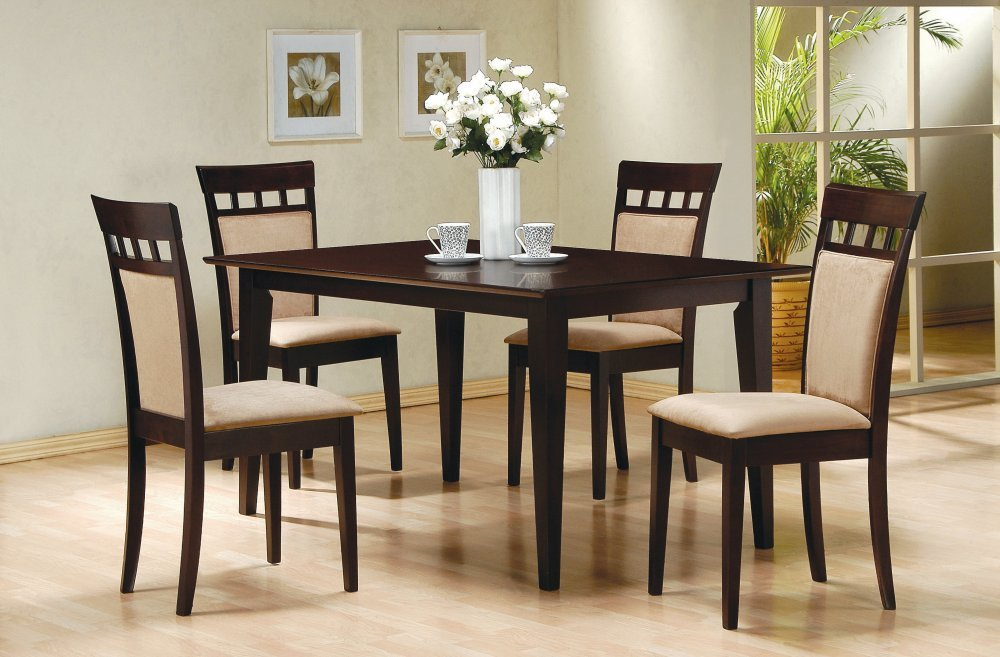 Amazon  -Piece Dining Set in Rich Cappuccino - Coaster