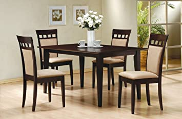 High Quality 5 Piece Dining Set In Rich Cappuccino   Coaster
