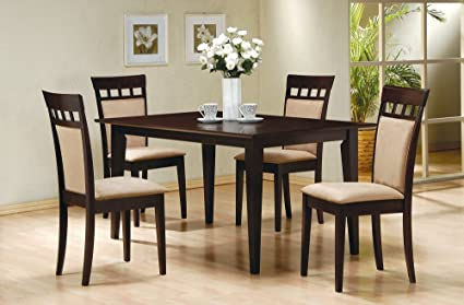 5 Piece Dining Set In Rich Cappuccino   Coaster