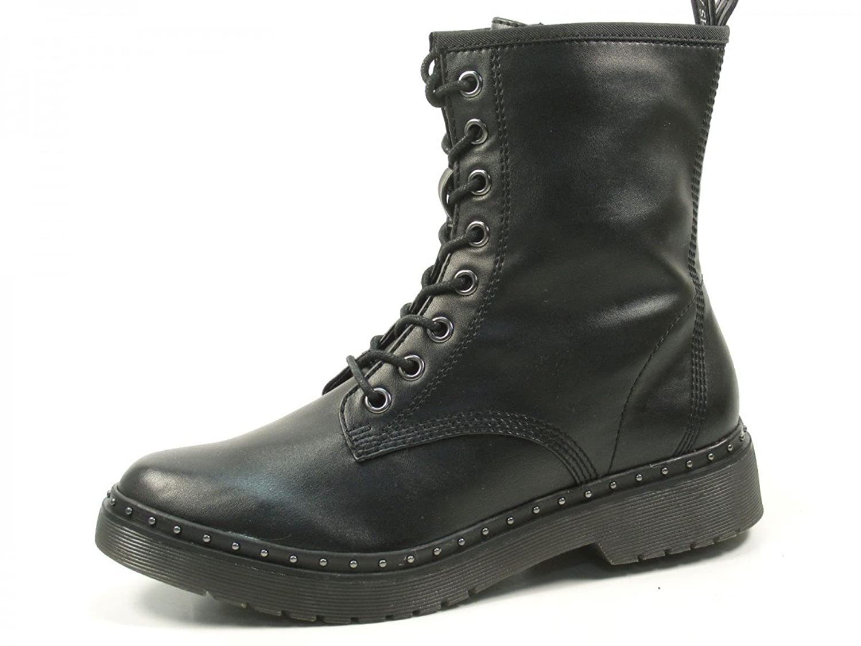 Tamaris Damen 25718 Combat Boots, Schwarz (Black Velvet), 40 EU