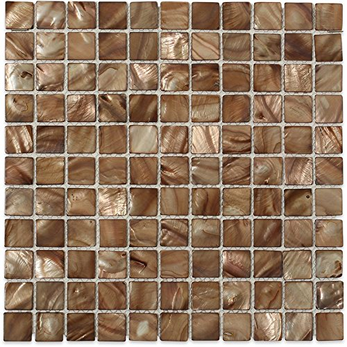 Pearl Brown Flat Squares (Sold by:SHEET) PRLSQBRWNFLT ()