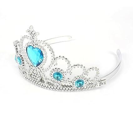 5pcs Cosplay Corona Tiara Accesorio de Pelo Corona Peluca + Magic Wand para Elsa Anna