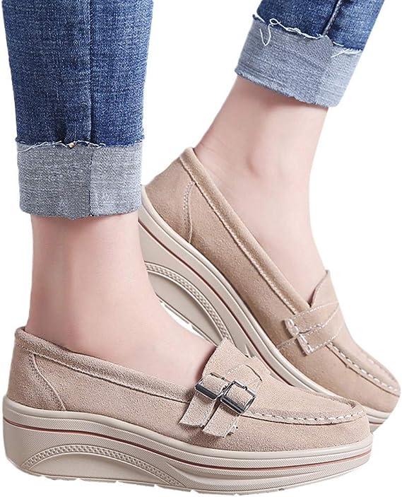 Padaleks Womens Platform Wedge Walking Shoes Flowers Casual Comfort Sneakers Slip On Loafers Flats Single Shoe