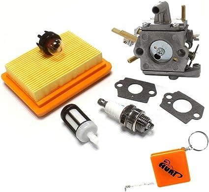 Huri carburador + filtro de aire + bujía para Stihl FS400, FS450 ...