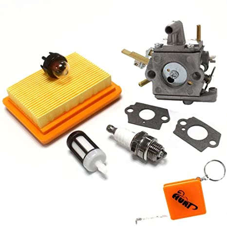 Huri carburador + filtro de aire + bujía para Stihl FS400, FS450, FS480,