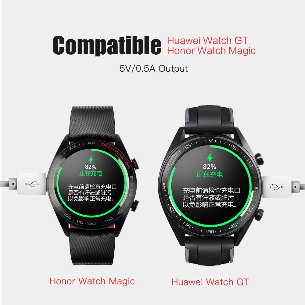 SIKAI Cable de Carga de Repuesto Compatible con Huawei Watch GT/Honor Magic Smart Watch Cargador inalámbrico Portátil Estación de Soporte con Cable ...