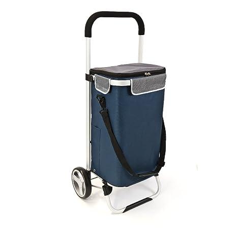 bremermann Carrito para la Compra BRINKUM, con Bolsa extraíble (Azul)