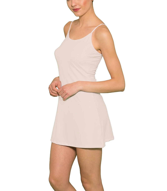 DOREANSE Unterkleid Kleid Damen Mini Blickdicht Schwarz Weiß Beige DU11128