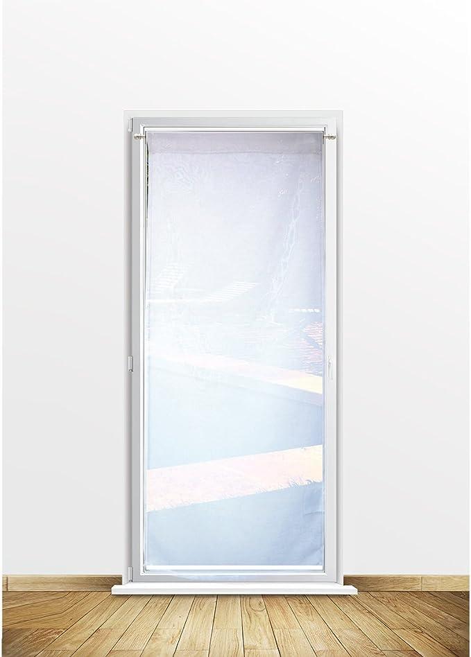 Soleil docre Visillo para Puerta acristalada 70x200 cm Dolly Blanco: Amazon.es: Hogar