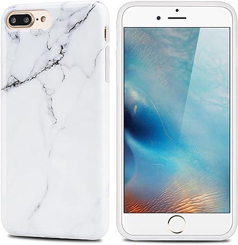 MoEvn Cover per Apple iPhone 8 Plus, Custodia iPhone 7 Plus Silicone Marmo Ultra Sottile Morbido Flessibile TPU Caso Effetto Naturale Marble Design ...