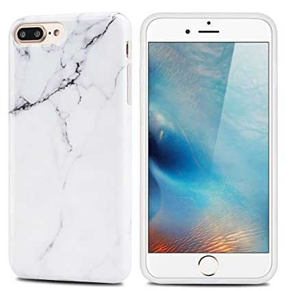 MoEvn Funda iPhone 8 Plus / 7 Plus, Mármol Suave TPU Silicona Carcasa iPhone 8 Plus Flexible Goma Gel Protectora Caso iPhone 7 Plus Fina Protector ...