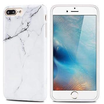 MoEvn Funda iPhone 8 Plus / 7 Plus, Mármol Suave TPU Silicona Carcasa iPhone 8 Plus Flexible Goma Gel Protectora Caso iPhone 7 Plus Fina Protector ...