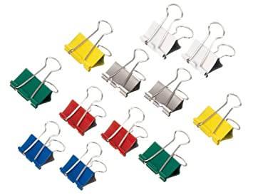 Maul 50 Foldback-Klemmer sortiert 3 Größen 7 Farben