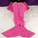 Fans Handcrafted Knitted Mermaid Tail Blanket for