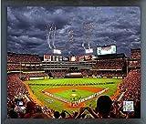 """Rangers Ballpark in Arlington Game 3 2011 World Series Texas Rangers MLB Photo (Size: 17"""" x 21"""") Framed"""