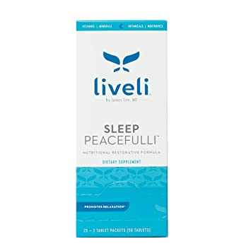 Sleep Peacefulli by Liveli | Sleep Aid Supplement | Promote Blissful Sleep | Wake Up Refreshed