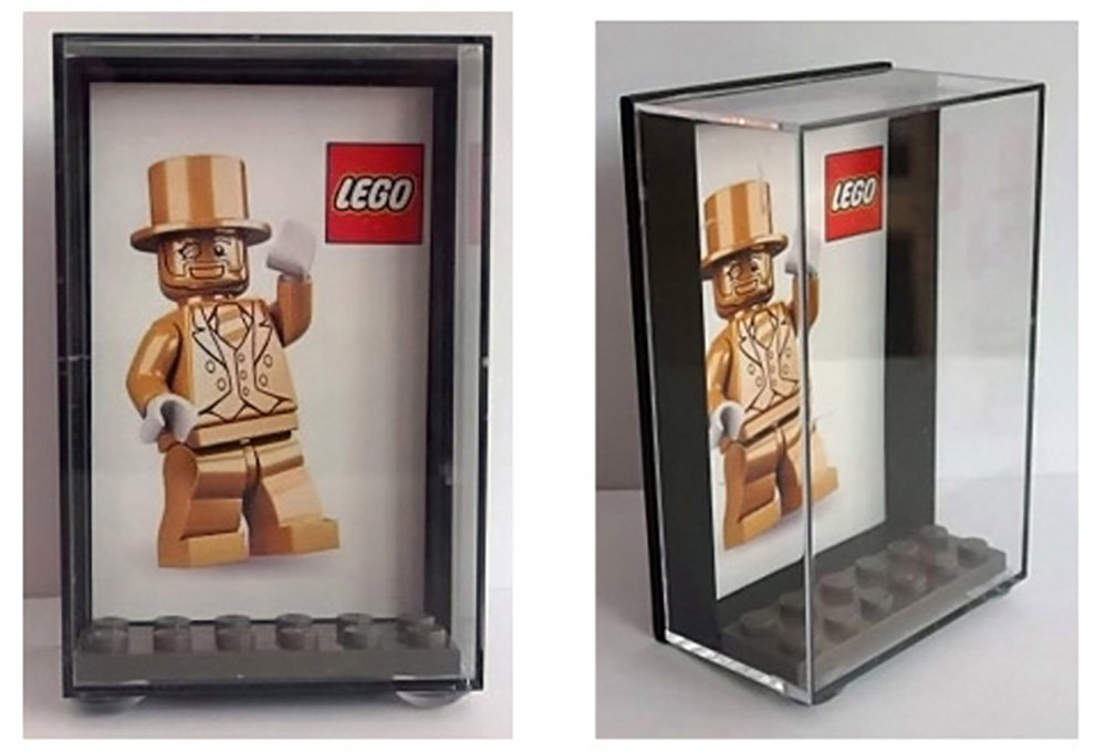 Lego Mr Gold Plastic Display Case - keep your minifigure safe & dust ...