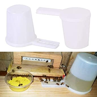 2x Beekeeping Honey Entrance Water Drinker Bee Feeder Bottle Bee Hive Bowl Tool