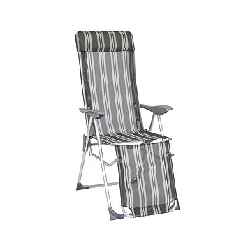 Greemotion Chaise Relax En Aluminium Texel Longue De Jardin Avec Dossier Rglable Fauteuil