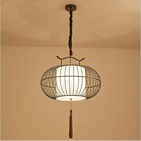 Forja creativa pájaro jaula vintage lámpara araña bar ...