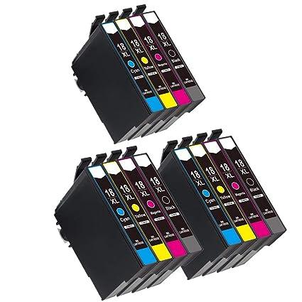 Teng® - Juego de 12 Cartuchos de Tinta para Epson Expression Home ...