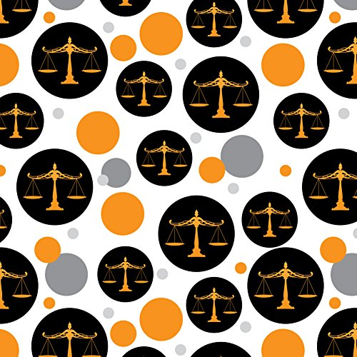 Scales Of Justice Legal Lawyer Premium Gift Wrap Wrapping Paper Roll by Graphics and More