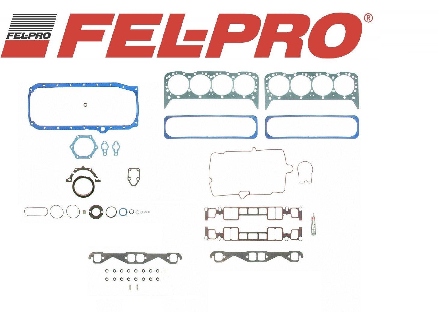 Chevy 350 5.7 VORTEC Fel Pro Full Gasket Set Head+Intake+Oil Pan+Exhaust 96-02 (Vortec VIN ''R'')