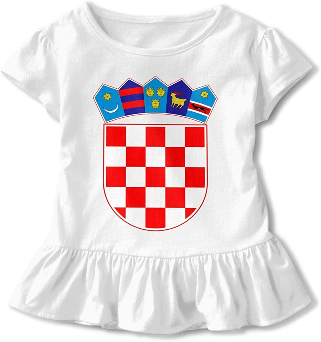 HelloWorlduk Toddler Baby Girl Croatia Flag Funny Short Sleeve Cotton T Shirts Basic Tops Tee Clothes