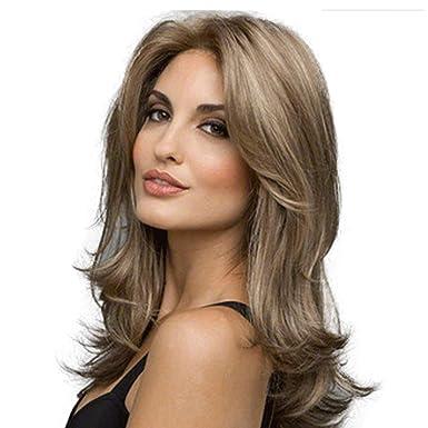amazon women s long wavy wigs 22 inch middle part synthetic full
