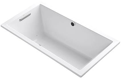 KOHLER K-1168-G-0 Underscore 5-Foot Acrylic BubbleMassage Bath, 60 ...