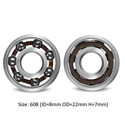 Amazon Coogam 608 Hybrid Ceramic Ball Bearing for Skateboard