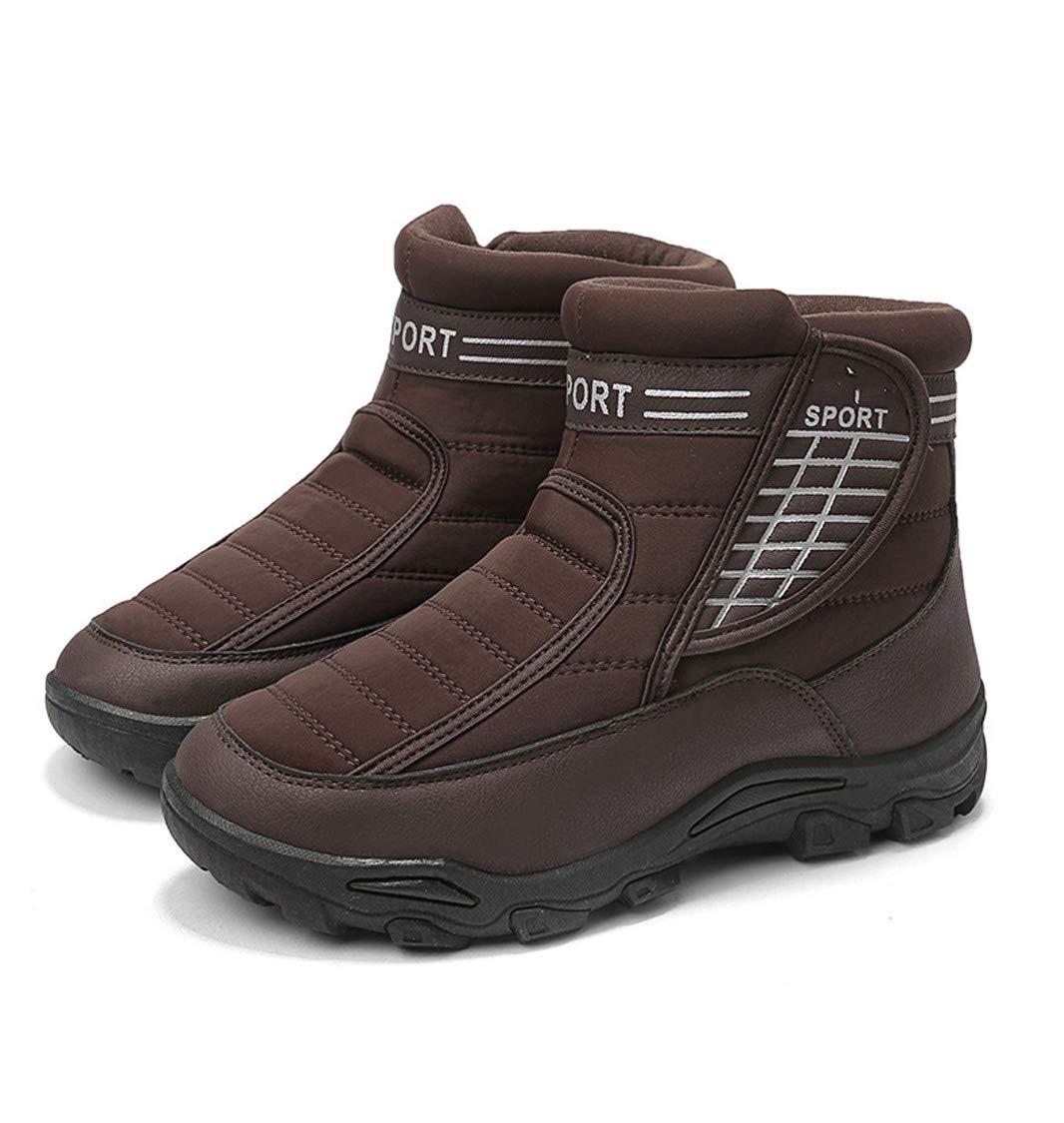 DANDANJIE Herren-Schneestiefel Warme Sport-Wanderschuhe mit hohen, Rutschfesten Turnschuhen, lässigen Outdoor-Schuhe für den Winter
