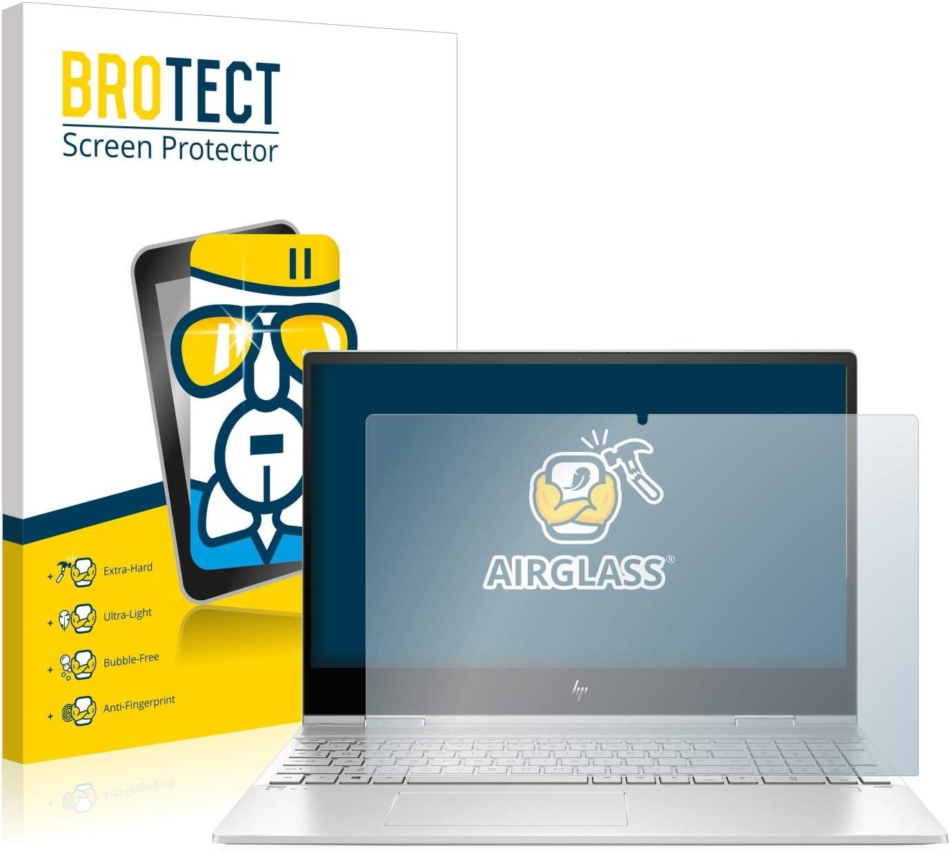 BROTECT Panzerglas Schutzfolie kompatibel mit HP Envy x360 15-ds0102ng AirGlass Anti-Fingerprint extrem Kratzfest Ultra-transparent
