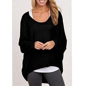 Distinct® À manches longues T-shirt de la femme Pull ample Blouse Hauts en tricot