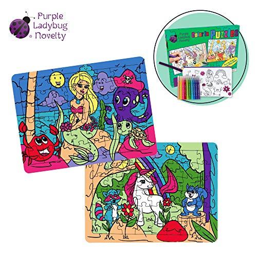Puzzles Unicorn Mermaid Coloring Creative product image